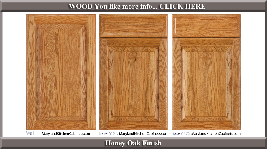 612 Honey Oak Finish Cabinet Door Style & 612 u2013 Oak u2013 Cabinet Door Styles and Finishes | Maryland Kitchen ...