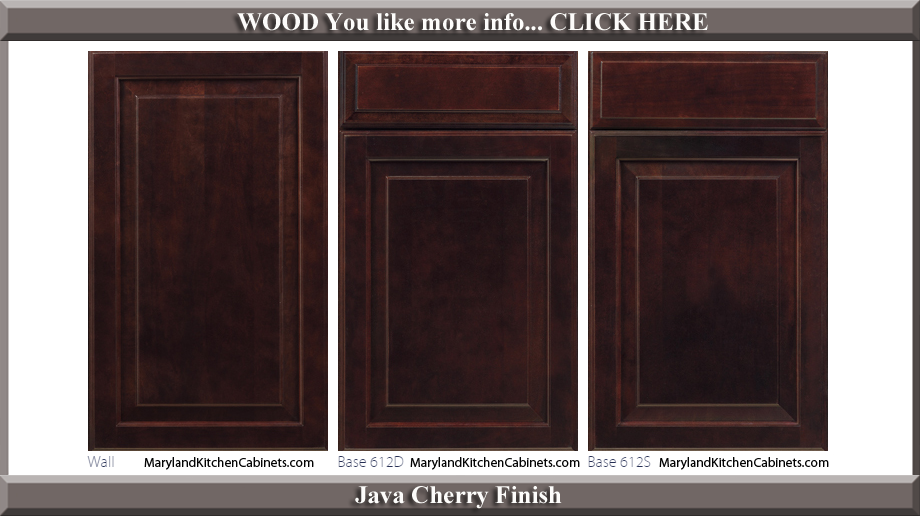 612 Java Cherry Finish Cabinet Door Style
