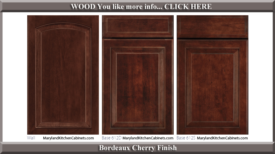 613 Bordeaux Cherry Finish Cabinet Door Style