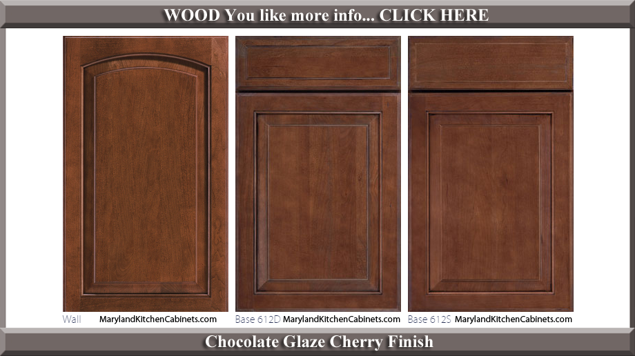 613 Chocolate Glaze Cherry Finish Cabinet Door Style