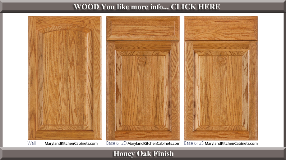 613 Honey Oak Finish Cabinet Door Style & 613 \u2013 Oak \u2013 Cabinet Door Styles and Finishes | Maryland Kitchen ...
