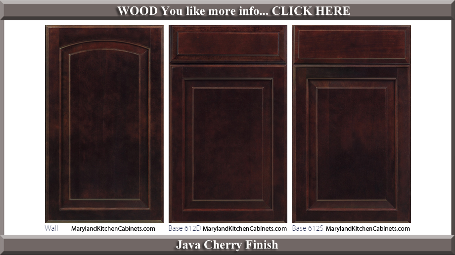 613 Java Cherry Finish Cabinet Door Style