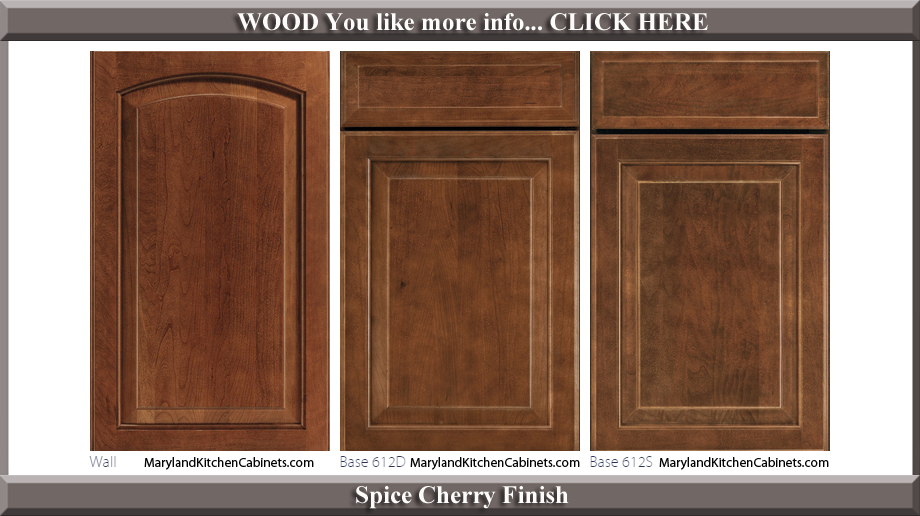 613 Spice Cherry Finish Cabinet Door Style
