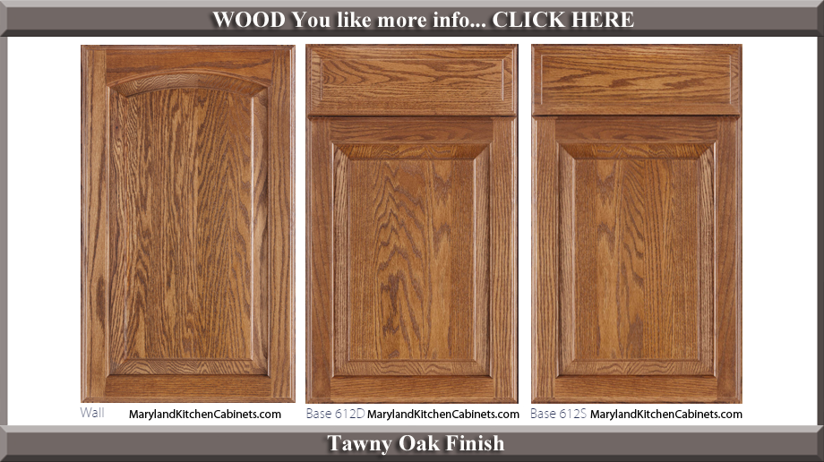 613 Tawny Oak Finish Cabinet Door Style