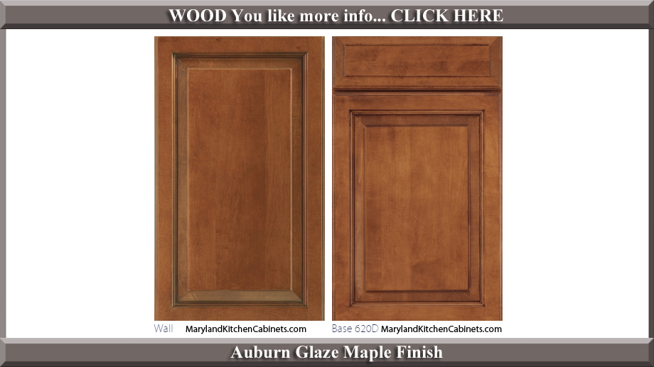 620 Auburn Glaze Maple Finish Cabinet Door Style