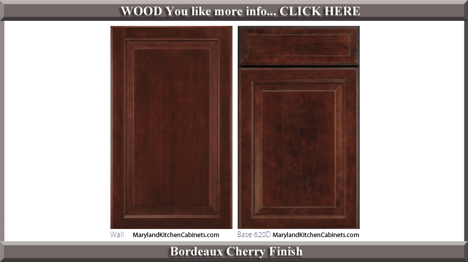 620 Bordeaux Cherry Finish Cabinet Door Style