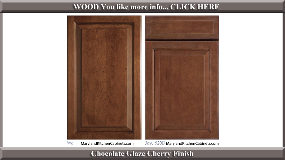 620 Chocolate Glaze Cherry Finish Cabinet Door Style