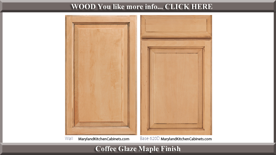 620 Coffee Glaze Maple Finish Cabinet Door Style
