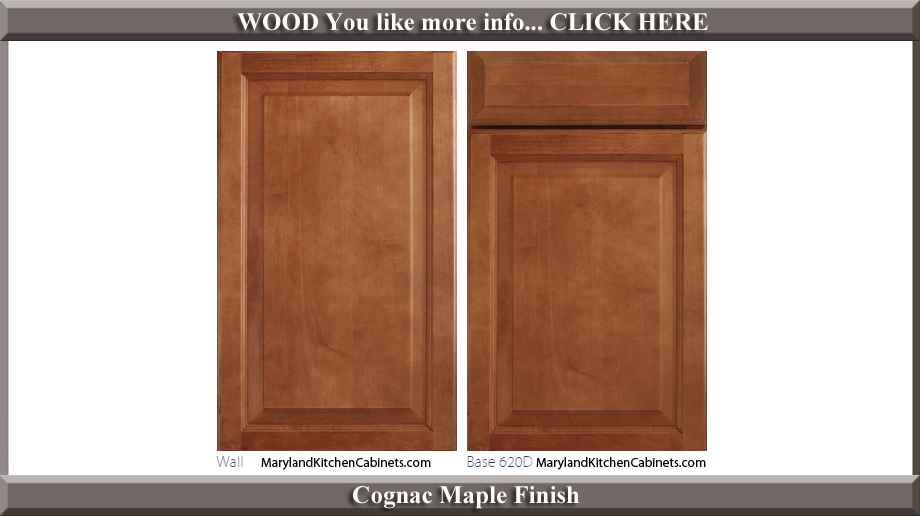 620 Cognac Maple Finish Cabinet Door Style