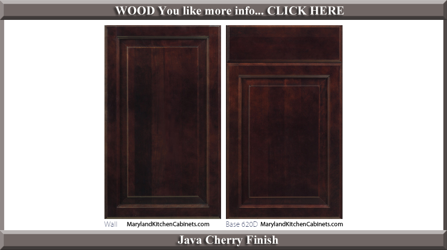 620 Java Cherry Finish Cabinet Door Style