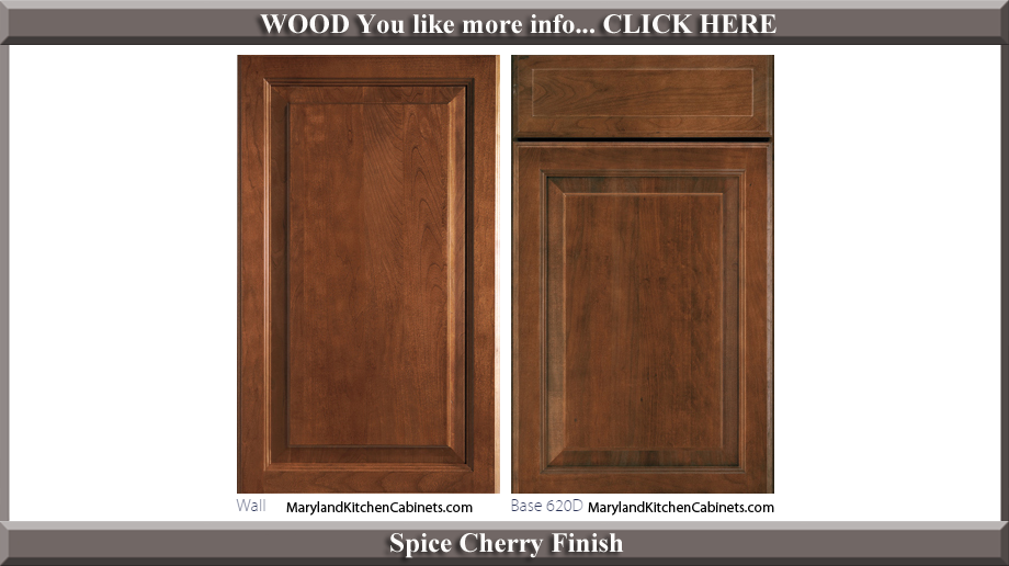 620 Spice Cherry Finish Cabinet Door Style