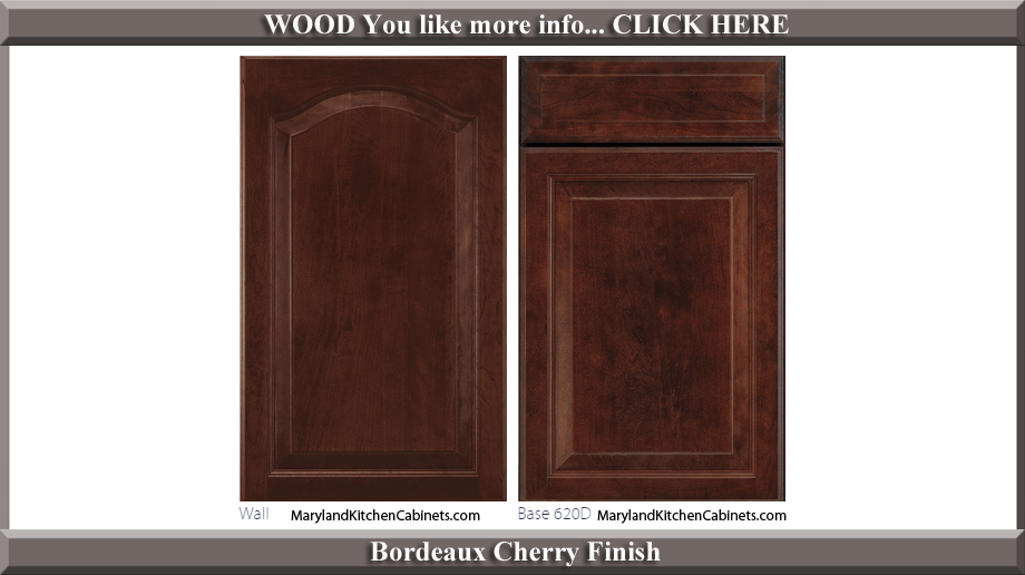 621 Bordeaux Cherry Finish Cabinet Door Style