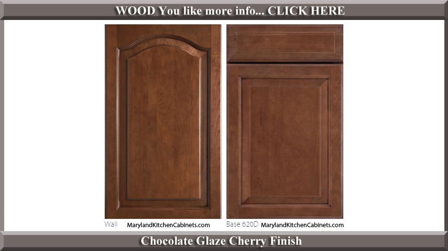 621 Chocolate Glaze Cherry Finish Cabinet Door Style