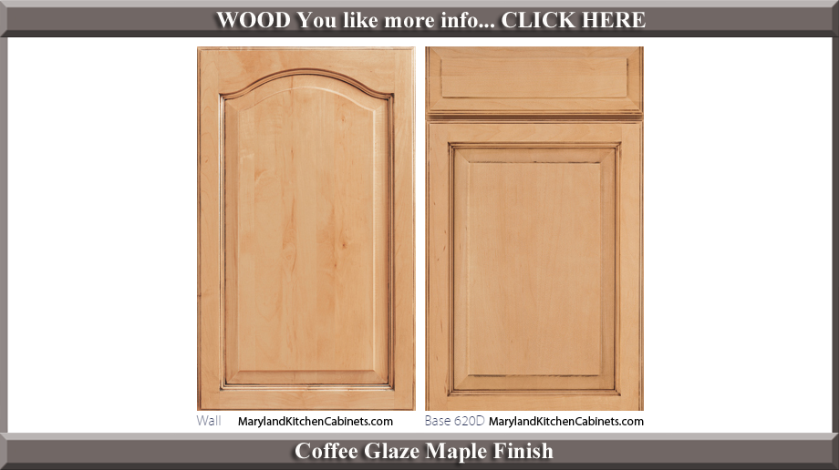 621 Coffee Glaze Maple Finish Cabinet Door Style