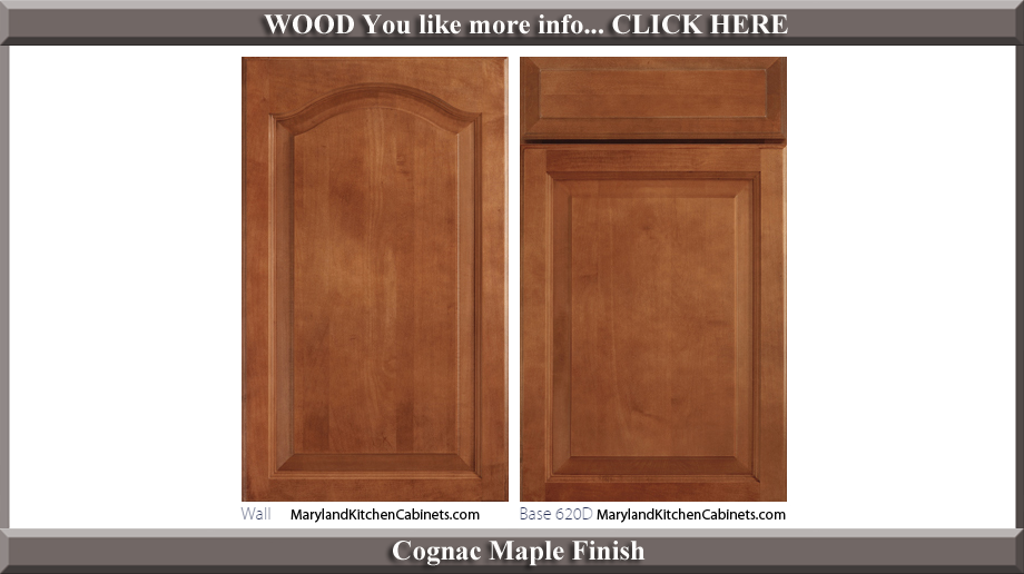 621 Cognac Maple Finish Cabinet Door Style