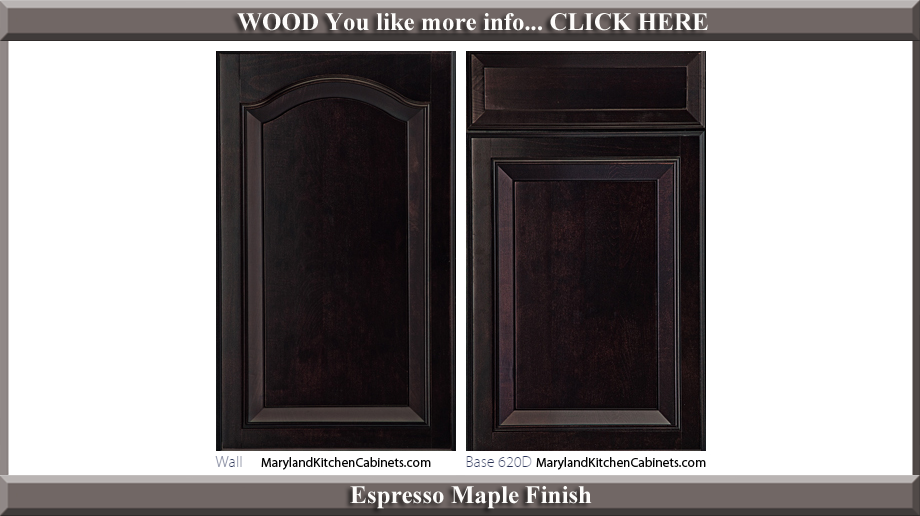 621 Espresso Maple Finish Cabinet Door Style