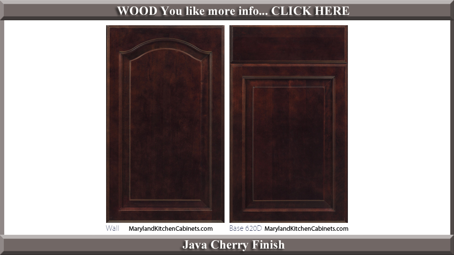 621 Java Cherry Finish Cabinet Door Style