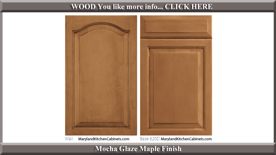 621 Mocha Glaze Maple Finish Cabinet Door Style