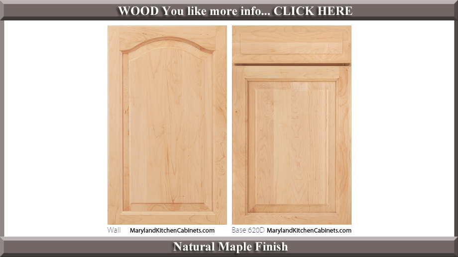 621 Natural Maple Finish Cabinet Door Style