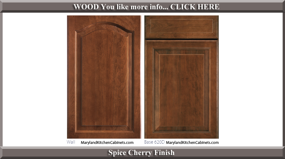 621 Spice Cherry Finish Cabinet Door Style