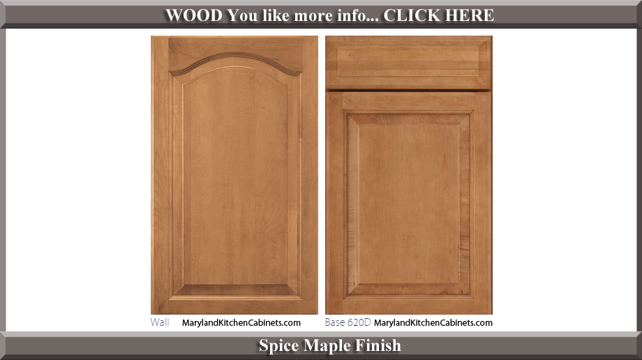 621 Spice Maple Finish Cabinet Door Style
