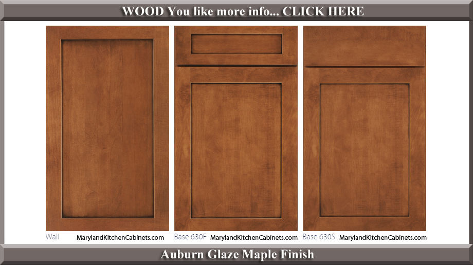 630 Auburn Glaze Maple Finish Cabinet Door Style