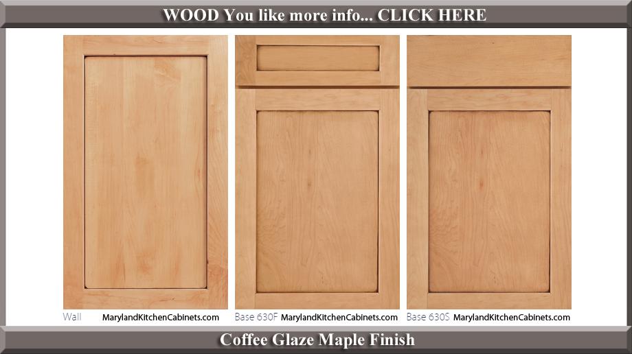 630 Coffee Glaze Maple Finish Cabinet Door Style