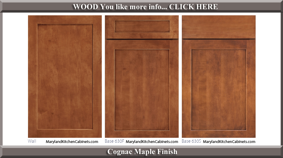 630 Cognac Maple Finish Cabinet Door Style