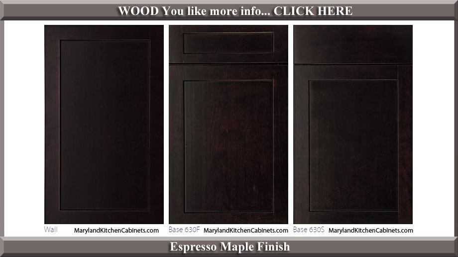 630 Espresso Maple Finish Cabinet Door Style