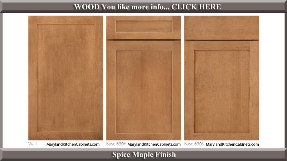 630 Spice Maple Finish Cabinet Door Style