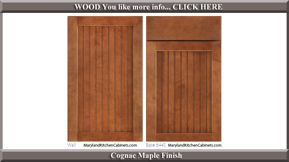 644 Cognac Maple Finish Cabinet Door Style