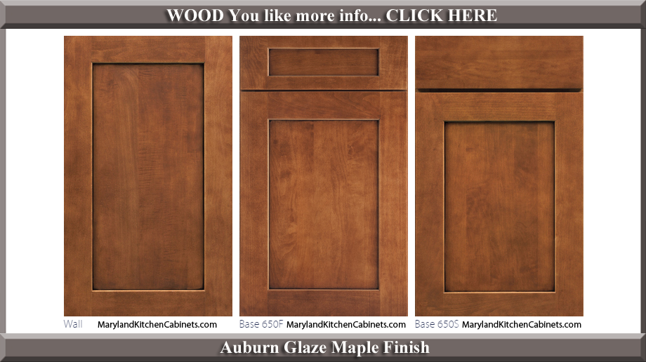 650 Auburn Glaze Maple Finish Cabinet Door Style