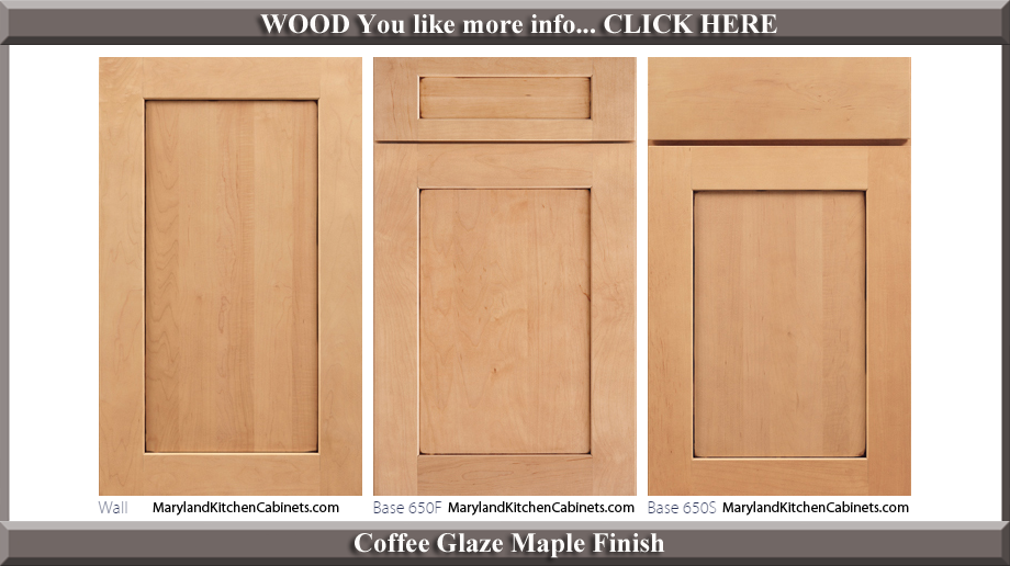 650 Coffee Glaze Maple Finish Cabinet Door Style