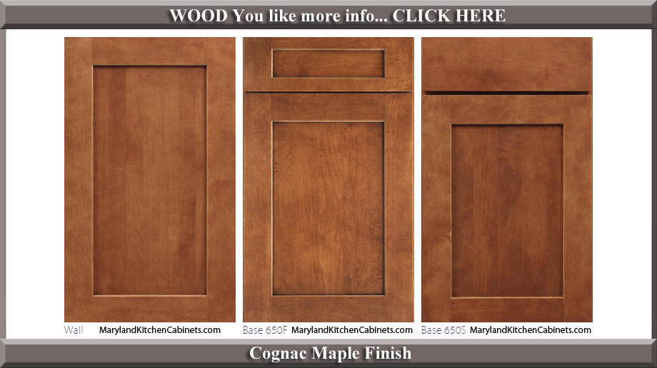 650 Cognac Maple Finish Cabinet Door Style