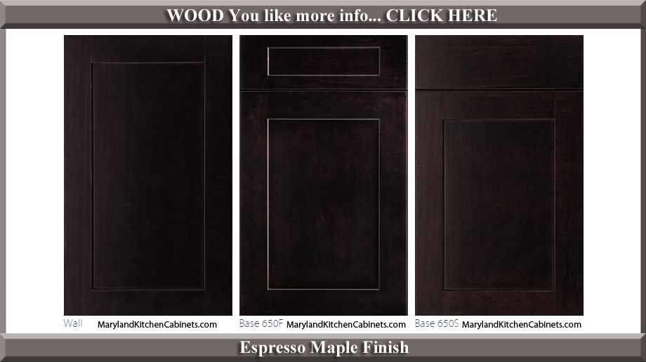 650 Espresso Maple Finish Cabinet Door Style