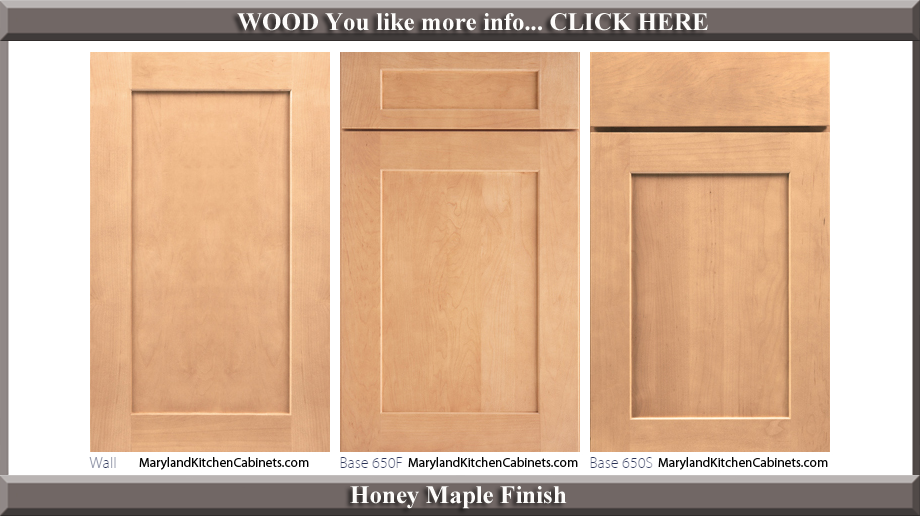 650 Honey Maple Finish Cabinet Door Style