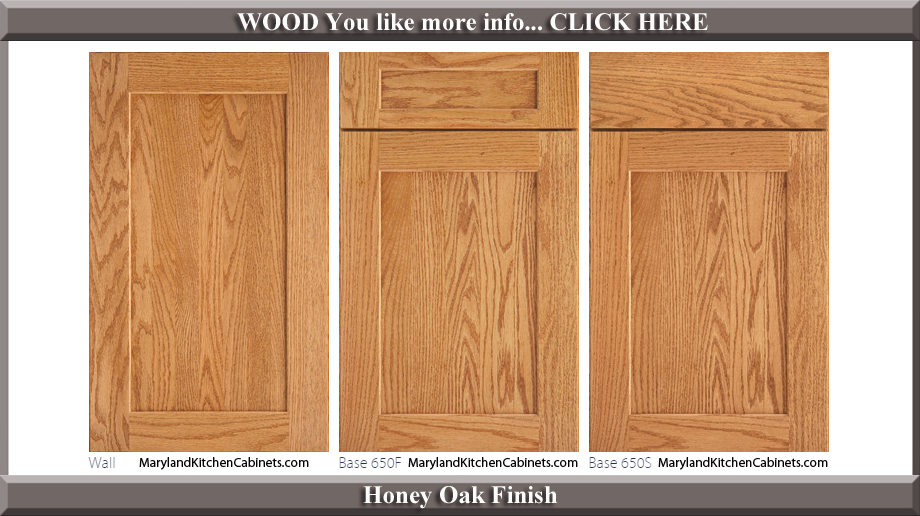 650 Honey Oak Finish Cabinet Door Style
