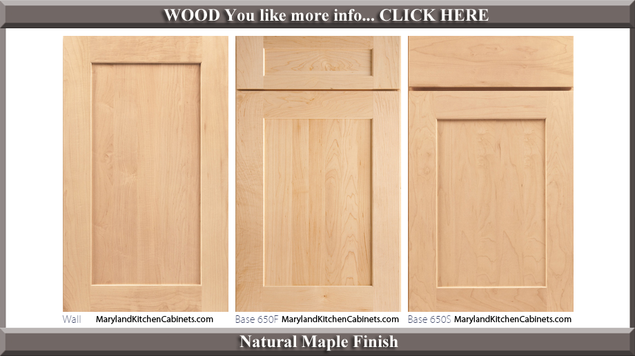 650 Natural Maple Finish Cabinet Door Style