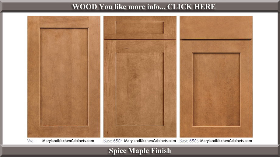 650 Spice Maple Finish Cabinet Door Style