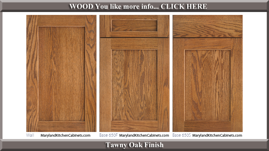 650 Tawny Oak Finish Cabinet Door Style