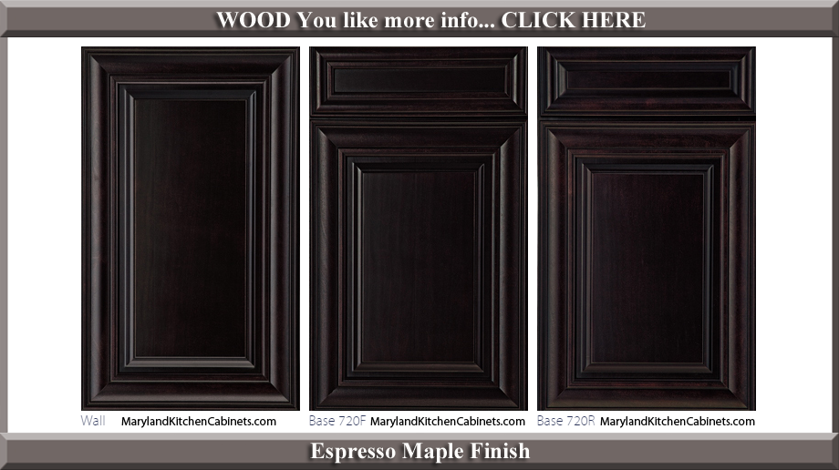 720 Espresso Maple Finish Cabinet Door Style & 720 u2013 Maple u2013 Cabinet Door Styles and Finishes | Maryland Kitchen ...