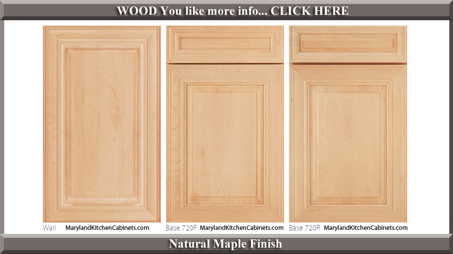 720 Maple Natural Finish Cabinet Door Style  sc 1 st  Maryland Kitchen Cabinets & 720 u2013 Maple u2013 Cabinet Door Styles and Finishes | Maryland Kitchen ...
