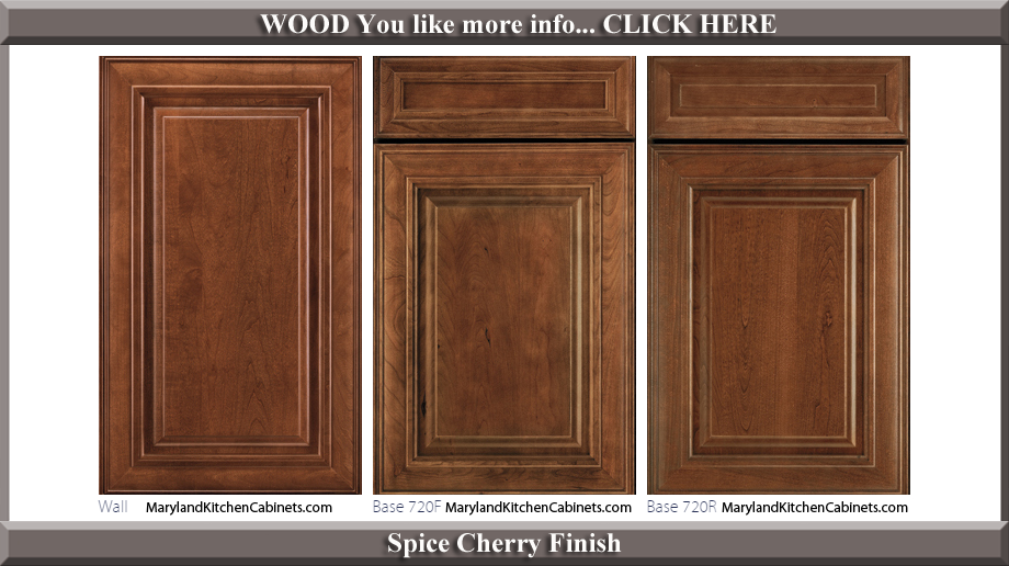 720 Spice Cherry Finish Cabinet Door Style  sc 1 st  Maryland Kitchen Cabinets & 720 u2013 Cherry u2013 Cabinet Door Styles and Finishes | Maryland Kitchen ...