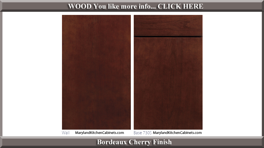730 Bordeaux Cherry Finish Cabinet Door Style