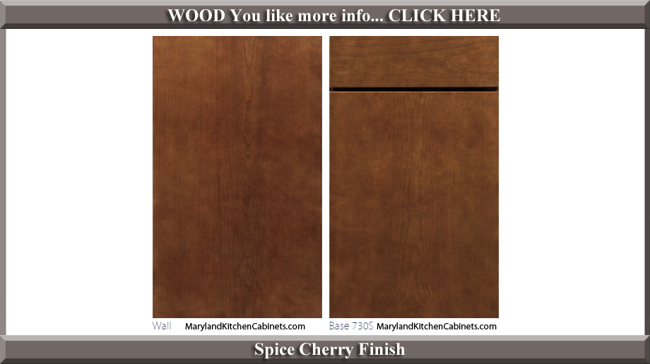 730 Spice Cherry Finish Cabinet Door Style