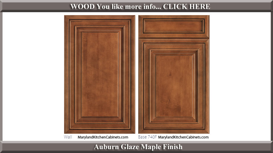 740 Auburn Glaze Maple Finish Cabinet Door Style