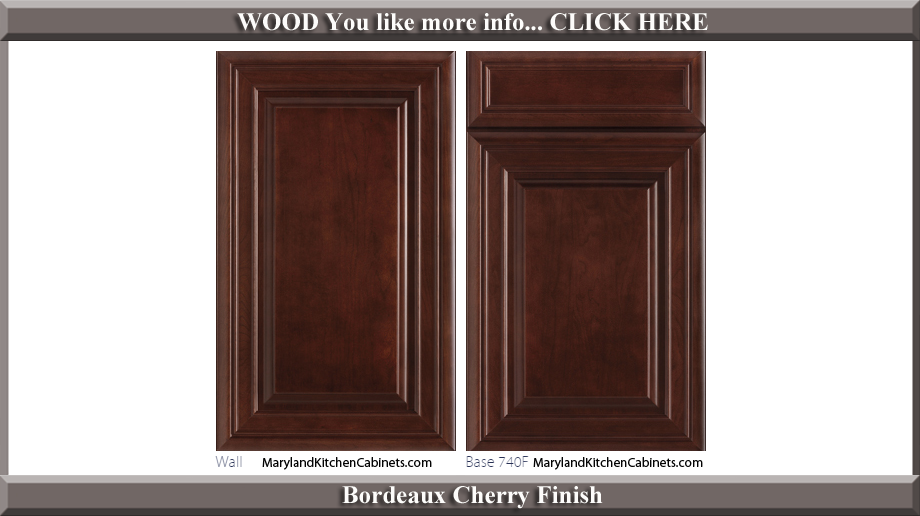 740 Bordeaux Cherry Finish Cabinet Door Style