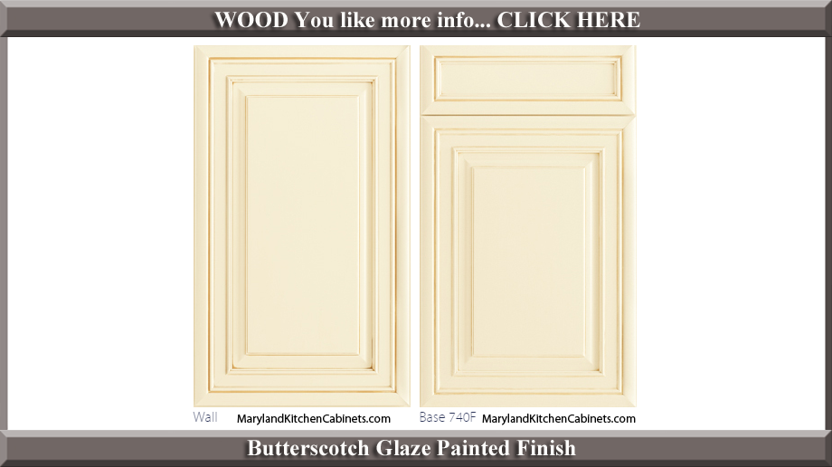 740 Butterscotch Glaze Painted Finish Cabinet Door Style