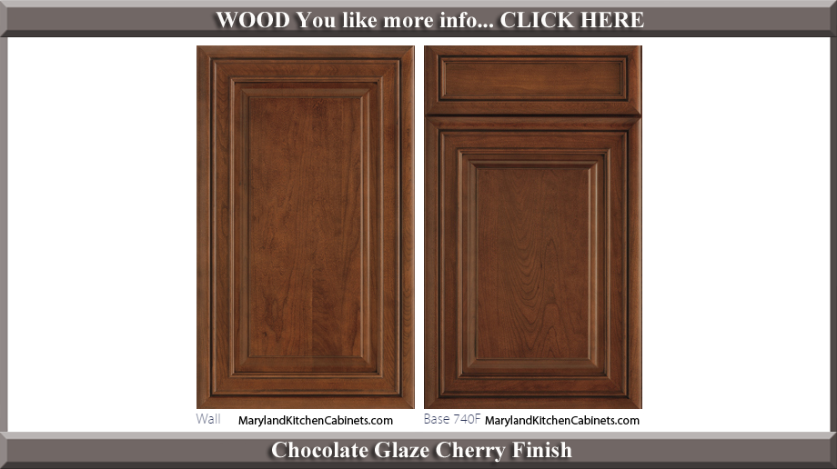 740 Chocolate Glaze Cherry Finish Cabinet Door Style