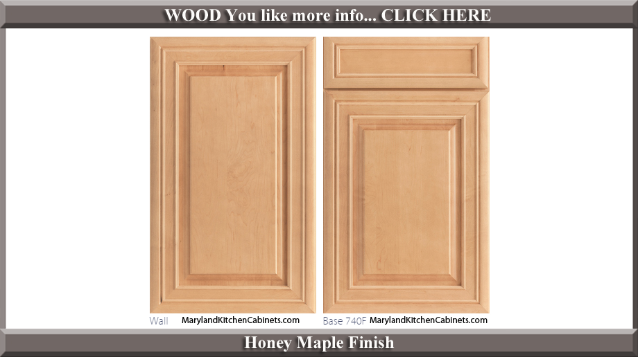 740 Honey Maple Finish Cabinet Door Style